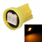 MZ T10 0.5W 80lm 2-SMD 5630 LED Yellow Light Car License Plate / Clearance/ Instrument Lamp (12V)