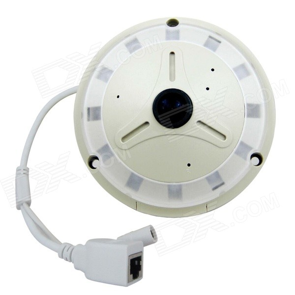 HOSAFE 1,3 MP CMOS 360 ° fisheye panorama IP-kamera - hvit