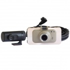"A200 3.0"" LCD FHD 1080P CMOS 170° Wide-Angle 2-Lens Night Vision Car DVR Recorder Camcorder - Gold"