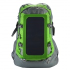 Conbrov ECE-612 Outdoor Sport Nylon Backpack w/ Solar Charging Panel - Green (5L)