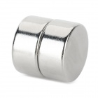 NdFeB N35 Round Magnets - Silver (20*10 mm / 2PCS)