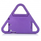 Triangular Back Case w/ Stand / Handles for IPAD MINI 1 / 2 - Purple