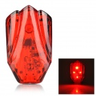 HJ-031 USB Rechargeable 800lm 4-mode Red Light LED Warning Tail Lamp for Bicycle - Red + Black