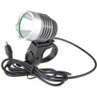 UltraFire K1A 900lm 1-LED 6-Mode Cool White Light High-Power Bike Light Headlight - Grey (4 x 18650)