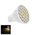 GU10 5W LED Lamp Bulb Warm White Light 3000K 190lm 20-SMD 5050 - White (AC 220V)