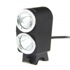 Ultra K2G 1800lm 2-LED 3-Mode Cool White High-Power-Fahrrad-Licht-Scheinwerfer - Schwarz (4 x 18650)