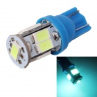 MZ T10 3W LED Car License Plate Light / Clearance Lamp Ice Blue 495nm 360lm SMD 5630 - Blue (12V)