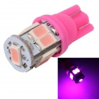 MZ T10 3W LED Car License Plate Light / Clearance Lamp Pink 380nm 360lm SMD 5630 - Pink (12V)