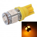 MZ T10 3W LED Car License Plate Light / Clearance Lamp Yellow 577nm 360lm SMD 5630 - Yellow (12V)