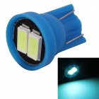 MZ T10 0.5W LED Car License Plate Light / Clearance Lamp Ice Blue 495nm 80lm SMD 5630 - Blue (12V)