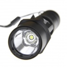 Ultrafire C1 1200lm 1-LED 5-Mode Cool White Super Bright Flashlight w/ Clip - Black (1 x 18650)