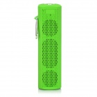 X6 Stylish Portable Outdoor Bluetooth V3.0 HiFi Bass Stereo Speaker w/ Carabiner - Green