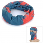 Men's Fashionable Polyester Outdoor Sports Head Scarf - Smoky Blue + Red