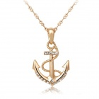 Rshow 18K RGP Alloy Crystals Decorated Sagittarius Logo Style Pendant Necklace - Gold