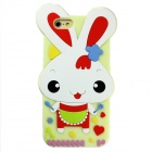 Happy Rabbit Style Silicone Back Case for IPHONE 6 - Red + Multicolor