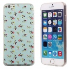 Cartoon Flowers Pattern Protective PC + TPU Back Case for IPHONE 6 PLUS - Light Blue + Multicolored