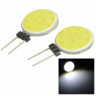 JR-LED G4 3W COB LED Light Emitter Boards Cool White 8000K 230lm - White + Black (DC 12V / 2 PCS)