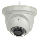 COTIER 720P 1MP Wireless Security Dome Surveillance IP Camera w/ 15m Night Vision - White (EU Plug)