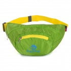 Hasky 3000 Water Resistant Foldable Nylon Waist Bag - Green + Yellow (2.5L)