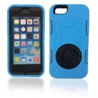 Shockproof Anti-dust TPU Back Case Cover Armor w/ Holder Ring for IPHONE 6 - Sky Blue
