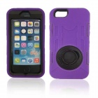 Shockproof Anti-dust TPU Back Case Cover Armor w/ Holder Ring for IPHONE 6 - Purple