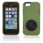 "Shockproof Anti-dust TPU Back Case Cover Armor w/ Holder Ring for IPHONE 6  4.7""- Green"