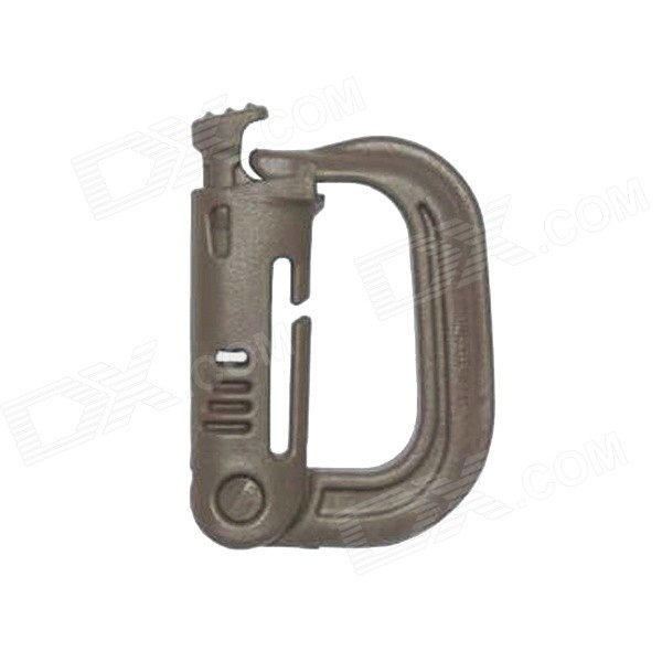 Portable D-Ring de bloqueo Carabiners - de color caqui (10PCS)