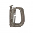 Tragbare D-Ring Locking Karabiner - Khaki (10 PCS)