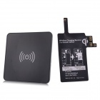 Mini Wireless Charger Pad w/ Wireless Charging Receiver for Samsung Galaxy Note 4 - Black
