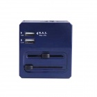 Multi-function 3A USB Wi-Fi Adapter + Router + Plug Converter - Blue