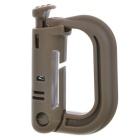 Portable D-Ring Locking Carabiners - Brown (10PCS)