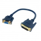 CY DB-033 DVI 24+5 Male to VGA Female Monitor Converter Cable - Black