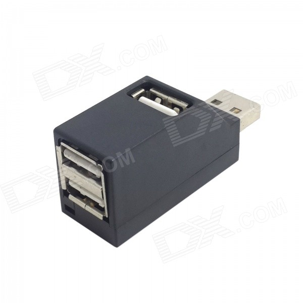 CY U2-305-BK USB 2.0 vertical 3-Port hub para tableta / PC - negro