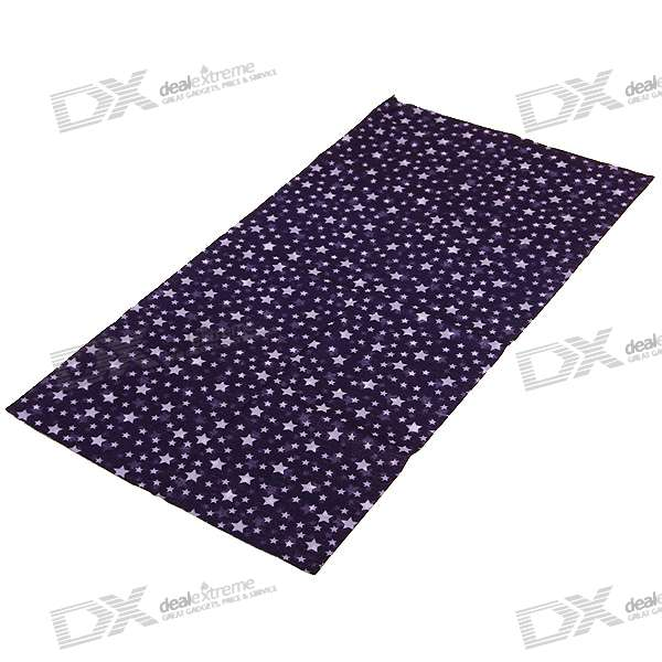 Stylish Multi Purpose Cotton Scarf for Men and Women - Stars (Color Assorted)