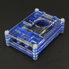 Protective Acrylic Case with Fan Hole for Raspberry Pi 2 B & B+ - Blue