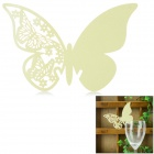 Butterfly Shaped Wedding Decorative Card / Table Card - Light Yellow