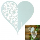 Romantic Heart Shaped Wedding Decorative Card / Table Card - Light Green