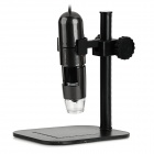 S10 Portable 1000X 1.3MP Digital USB Microscope w/ 8-LED Light / Mount Holder - Dark Grey