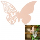 Butterfly Shaped Wedding Decorative Card / Table Card - Peach Color