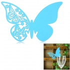 Butterfly Shaped Wedding Decorative Card / Table Card - Blue