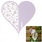 Romantic Heart Shaped Wedding Decorative Card / Table Card - Light Purple
