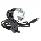 UltraFire K1A 900lm 1-LED 6-Mode Cool White High-Power Bike Light Headlight - Black (4 x 18650)