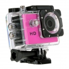 "EOSCN HD Waterproof CMOS 5.0MP Wide Angle Lens Sports Camera w/ 1.5"" LCD / 900mAh Battery - Rose"