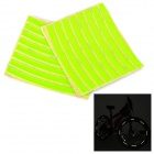 Salzmann Outdoor Cycling Bike Safety Reflective Stickers - Fluorescent Green (16 PCS)
