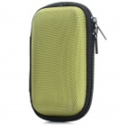 Portable Shock-resistant Zipper Storage Bag Pouch for In-Ear Earphones, MP3 Player - Green + Black