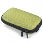 Portable Shock-resistant Zipper Storage Bag Pouch - Green + Black