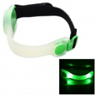 HJ-028 2-LED 2-Mode Green Outdoor Sports Warning Lamp / Bike Light - White + Green (2 x CR2032)