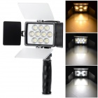 Universal 10-LED 2375lm White + Yellow Light Video Camera Speedlite - Black (6~16.8V)