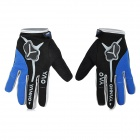 Yanho YAS366 Warm Full-Finger Fleece Gloves for Cycling - Black + Blue + Multicolored (Pair / L)