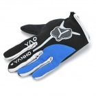 Yanho YAS366 Full-Finger Gloves for Cycling - Black + Blue (Pair / L)